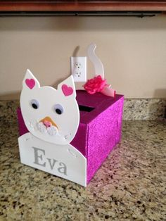 kitty cat valentines day box for my daughter this was so easy to make - Cat Valentine Box