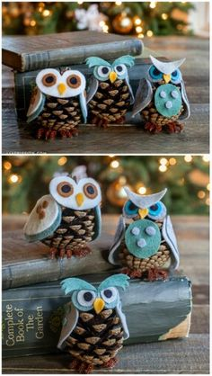 Cute pinecone  Owls!
