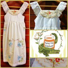 Upcycle, Apron, Embroidery, Facebook, Lace, Fashion, Moda, Needlepoint, Upcycling