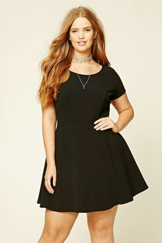 1cc41a5c5bd Forever 21+ - A textured knit mini dress featuring short sleeves