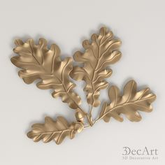 3D model oak leaves for visualization and production on CNC machines.