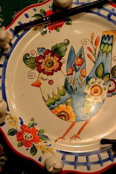 Pottery Painting, Ceramic Painting, Ceramic Plates, Decorative Plates, Lemon Kitchen, Blue Mosaic, Italian Pottery, Vintage Plates, China Painting