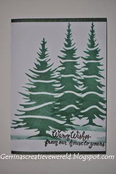 Gerrina's Creatieve Wereld: Snelle kerstkaarten 2 / Quick Christmascards 2