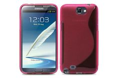 Crystal Matte S-Line Soft TPU Rubber Protector Cases for Samsung Galaxy Note 2 | Lagoo Tech
