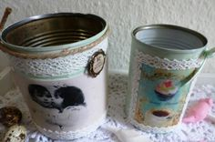 """Zwei Vintage-Dosen """"Retro"""" von Rosettas Laden auf DaWanda.com"""