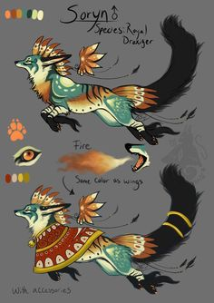 Soryn Reference by animalartist16 Mythical Creatures Art, Magical Creatures, Fantasy Creatures, Cute Animal Drawings, Animal Sketches, Creature Concept Art, Creature Design, Fantasy Beasts, Fantasy Art