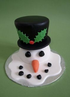 Winter Themed Party - Mini Melting Snowman Cake