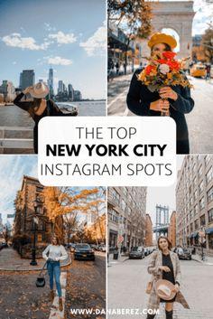 Best NYC Instagram Spots: 21 Locations With Map - Dana Berez New York City Vacation, New York City Travel, New York City Pictures, New York Photos, New York Photography, Photography Ideas, Best Places In New York, Manhattan, Instagram New York