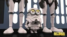 Adorable Minion dressed up as StormTrooper