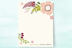 Victorian Mod Floral Personalized Stationery by Alethea and Ruth at minted.com