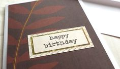 Simple Unisex Happy Birthday Pay-it-Forward Card by harmoneye studio, $7.00