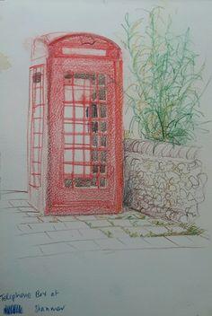 Sketching using crayons