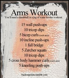 Alternate workout for arms