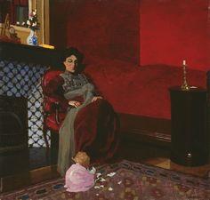 Vallotton, La chambre rouge à Etretat, 1899