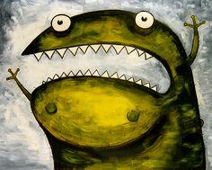 scared monster