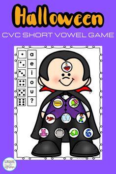 Using games are always a fun way to reinforce skills, introduce skills and even assess skills that are taught. These Phonemic Awareness CVC short vowel roll and cover game is a great way to teach, reteach or reinforce short vowel sounds. CVC Halloween short vowel activities is a fun game that can be differentiated. It can be played with partners or in a small group. This phonics game has 10 boards and use pictures to support phonemic awareness. Have some fun uses games to support phonics. Short Vowel Games, Short Vowel Activities, Short Vowels, Alphabet Activities, Color Activities, Thanksgiving Classroom Activities, Phonemic Awareness Activities, Short Vowel Sounds, Making Words