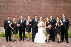 Dallas wedding photographer, Mary Fields Photography, outdoor bridal party pictures, black bridesmaid dresses  View More: http://maryfieldsphotography.pass.us/gilbert-wedding-6-21-14