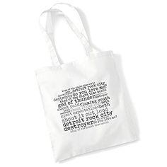 Art Studio Tote Bag MADONNA Lyrics Print Album Pop Poster Gym Beach Shopper Gift