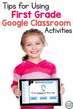 Find ideas and tips for first grade Google Classroom activities for ELA centers. Teaching grammar in first grade can be challenging especially with distance learning. Whether you are teaching plural nouns, future verb tenses, ending punctuation, commas in a series, adjectives, articles, or subject verb agreement, this post will show you practical teaching strategies for helping students to improve their writing skills. Find helpful tips for using technology in the classroom in elementary. Teaching First Grade, First Grade Teachers, First Grade Classroom, Primary Classroom, Google Classroom, Classroom Activities, First Grade Curriculum, Classroom Hacks, Grammar Activities