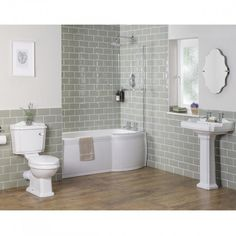 Abbey Traditional Bathroom Suite with Right Hand P Shape Shower Bath Simple Bathroom, Modern Bathroom Design, Bathroom Ideas, Cozy Bathroom, Classic Bathroom, Modern Bathrooms, Family Bathroom, Bathroom Inspo, Dream Bathrooms