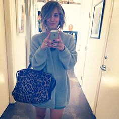 Kaley Cuoco debuts new bob (Instagram).... this is my new summer look! The bob, not the sweater. :)