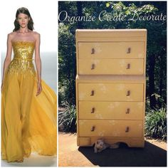 Painted furniture beauty by Organize Create Decorate using Paint Couture!(TM) Spanish Sunrise