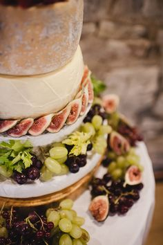 Cheese Wedding Cake by Spiros FineDining (http://www.spiros.co.uk); Photographed by: Michelle Waspe (http://www.michellewaspe.com)
