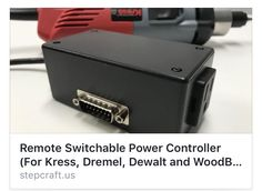 New product For Kress, Dewalt, Dremel and Proxxon users! You can now remotely turn your spindle on and off with the Remote Switchable Power Controller! https://stepcraft.us/product/powercontroller/ #STEPCRAFT #CNC Think it. Make it. #cncowners #stepcraftcnc #stepcraftowners #create #thinkitmakeit