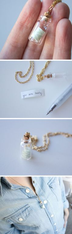 DIY Message in a Bottle Necklace | DIY Mothers Day Gifts from Daughter