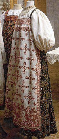 FolkCostume&Embroidery: Sarafan-like costumes of Europe