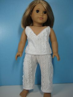 18 Doll Clothes American Girl 1800s Undergarments by nayasdesigns