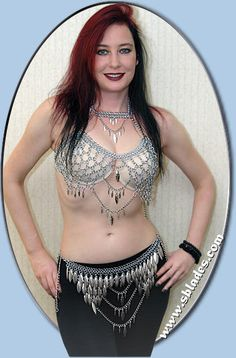 Valkyrie chainmail top, Chain-mail sexy fashion halter top, Warrior chainmaille costume handmade by Chainmail & More