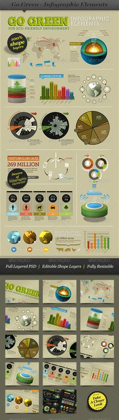Go Green - Infographic Elements - info template - GraphicRiver Item for Sale