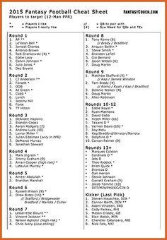 Geeky image in fantasy football rankings ppr printable