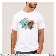 Moana   Adventures In Oceania. Producto disponible en tienda Zazzle. Vestuario, moda. Product available in Zazzle store. Fashion wardrobe. Regalos, Gifts. Link to product: http://www.zazzle.com/moana_adventures_in_oceania_t_shirt-235290688853283304?CMPN=shareicon&lang=en&social=true&rf=238167879144476949 #camiseta #tshirt #moana