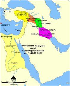Mapa de Mesopotamia una de las civilizaciones ms antiguas Vemos