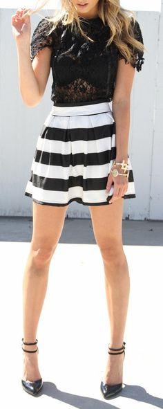 Stripes & Lace ♥ L.O.V.E.