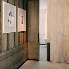sneak peek at a new interior architecture project in Paris shot by François Halard. Flur Design, Wall Design, Theoule Sur Mer, Paris, Christian Liaigre, Wood Interior Design, Hallway Designs, Wood Interiors, Modern Country