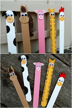 50 Fun Popsicle Crafts You Should Make With Your Kids This Summer, DIY and Crafts, Craft Stick Barnyard Animals. Fun Diy Crafts, Summer Crafts, Craft Stick Crafts, Preschool Crafts, Crafts To Make, Craft Sticks, Craft Stick Projects, Tree Crafts, Resin Crafts