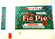 Vtg Rare 1930's Misprint Original Zion Ind .05 Fig Pie Candy Bar Candy Wrapper  #ZIONINDFIGBAR