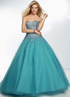 Mori Lee 95008 - Capri Strapless Beaded Ball Gown Prom Dresses Online #thepromdresses