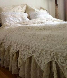 lovely lace coverlet