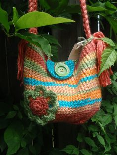 Sale now 17.50 CUTE crochet PURSE for girl. $17.50, via Etsy.