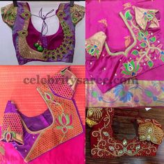 Lotus Design Blouses for Silk Saris
