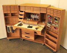 Fabulous Fly Tying Table Plans Of Flytying Storage fly tying table woodworking plansplans for fly tying table. woodworking plans for fly tying tablefly tying table woodworking plans. Craft Room Storage, Tool Storage, Storage Ideas, Pegboard Storage, Storage Benches, Diy Storage, Woodworking Plans, Woodworking Projects, Fly Tying Desk