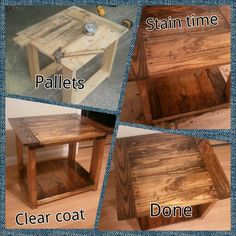rustic handmade end side table by remadeamerica on etsy 15000 beachcottage decor pinterest umbrellas by and on
