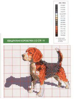 PiXS.ru / загрузить картинку для форума / фото альбомы / обмен файлами Disney Cross Stitch Patterns, Cross Stitch Charts, Cross Stitching, Cross Stitch Embroidery, Dog Chart, Beagle Art, Thread Painting, Dog Pattern, Cross Stitch Animals