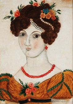 It's About Time: 19C American Folk Art - A Few Quirky, Folky Portraits of early 19th-century American Women