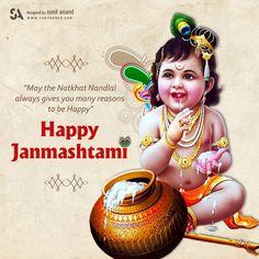 Shri Krishna Janmashtami SMS, Wishes, Quotes In Hindi and English