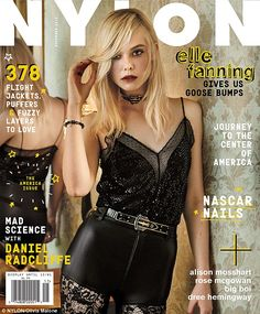 Cover girl: Elle appears on the cover of Nylon magazine's November issue in a glitzy black outfit